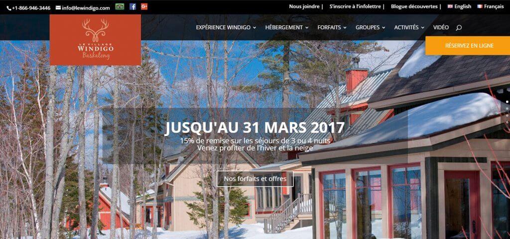 Location chalets appartements Québec Canada